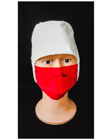 MASQUE CHIRURGICAL TISSU ROUGE