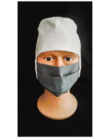 MASQUE CHIRURGICAL TISSU GRIS FONCE 1